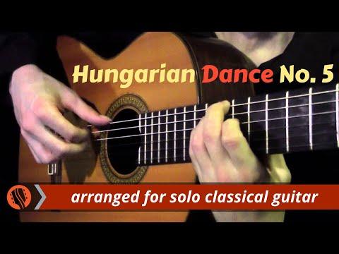Hungarian Dance No. 5 By J. Brahms (classical Guitar Arrangement By Emre Sabuncuoğlu)