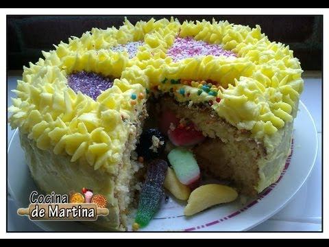 Tarta sorpresa | Surprise cake | Recetas de tartas