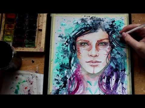 WATERCOLOR Abstract PORTRAIT