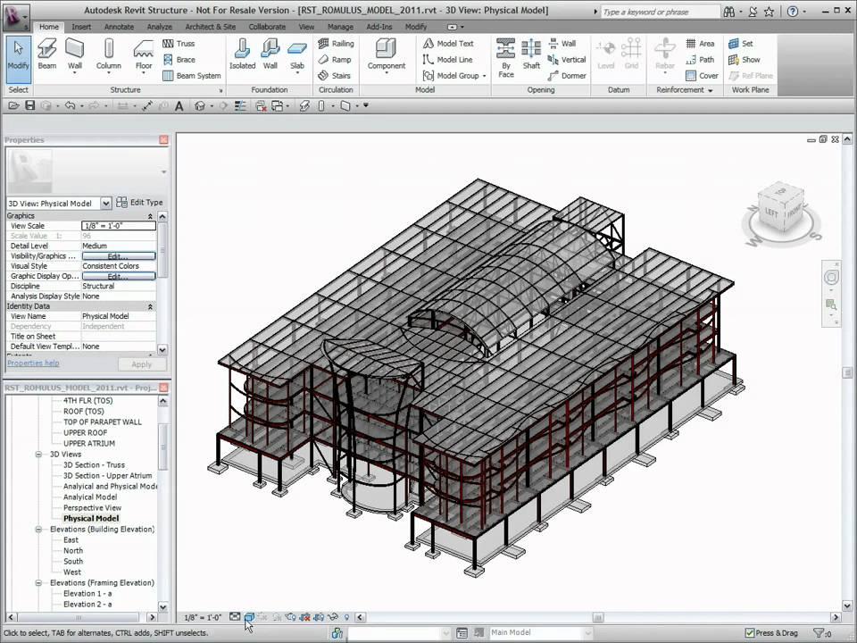 Autodesk Revit Structure 2011 User Interface