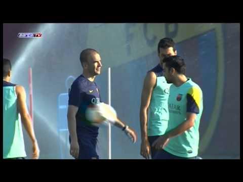 Messi entrena al margen del grupo