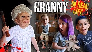 Granny Horror Game In Real Life! FUNhouse Family
