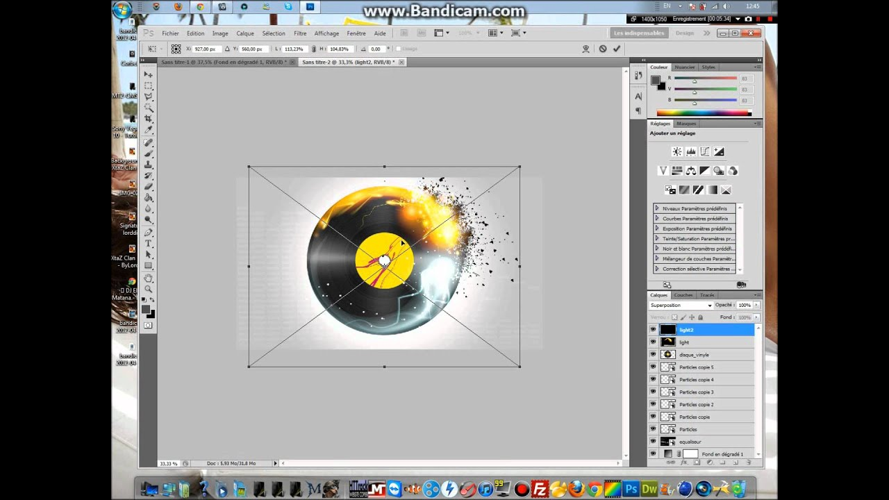 Tuto d butant cr er un effet de d sint gration avec for Effet miroir photoshop cs5