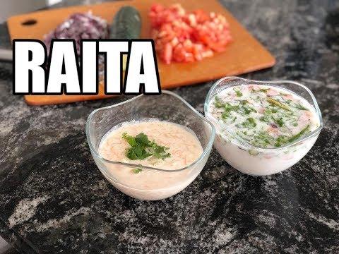 Simple Raita for Biryani - Onion Raita and Cucumber Raita | Pachadi