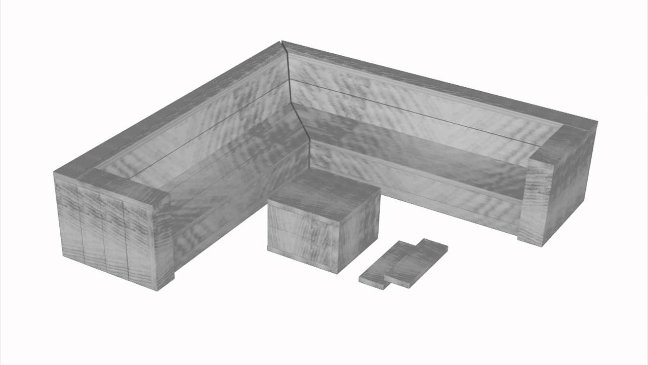 hoekbank steigerhout bouwtekening lounge hoekbank van steigerplanken youtube