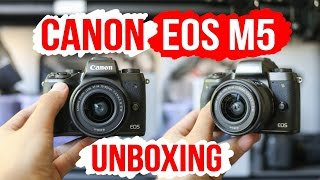 Canon EOS M5 unboxing - Canon Mirrorless Camera