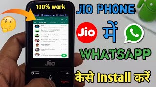 How To Install WhatsApp & facebook In JIO PHONES !!Hindi