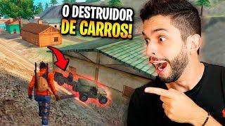 ENCONTREI 2 INIMIGOS DE CARRO NO FREE FIRE E MITEI CONTRA ELES!