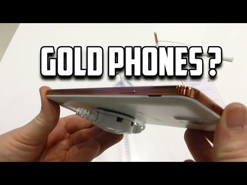 Gold Phones ? Gold Galaxy Note 3 Hands On