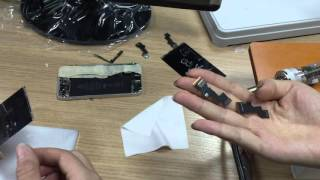 How to use the pulse pressing LCD touch flex cable laminating machine for iPhone 5G
