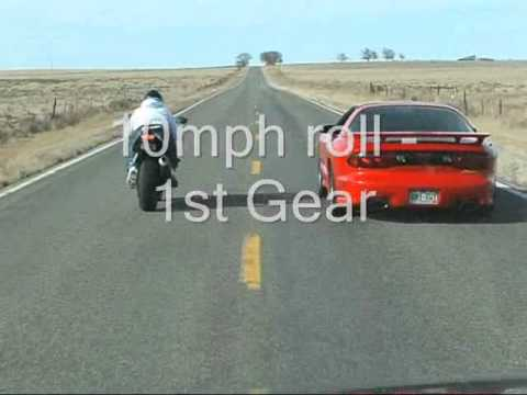 99 Firehawk VS. '05 R6 Raven! T/A was at 503 RWHP at the time. Since