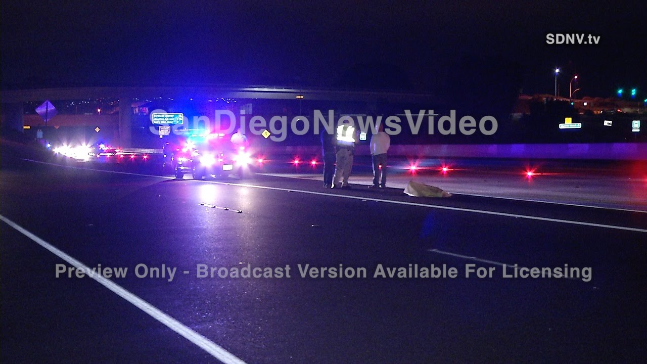 MAN RUNNING ON FREEWAY STRUCK & KILLED BY BIG RIG
