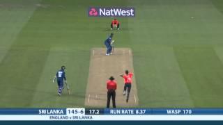 Highlights - England v Sri Lanka, NatWest T20, Sri Lanka innings
