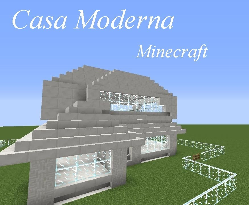 Tutorial de como fazer uma casa moderna minecraft youtube for Tutorial casa moderna grande minecraft