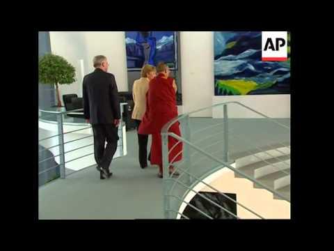 German Chancellor meets Dalai Lama