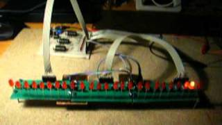 25 LED chaser, with 555 and CD4017 IC