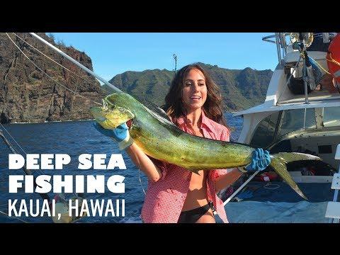 Things to do in kauai hawaii deep sea fishing youtube for Kauai fishing report