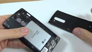 Lg G4c H525n - How to put sim card and memory card