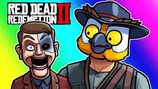 Red Dead Redemption 2 - Al Horsey and Terroriser's Puppet Face! (Funny Moments and Fails)