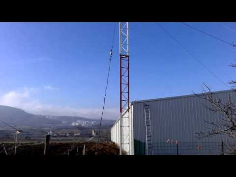 EF606W1 6el. Antenna for 50 MHz by YU7EF at YU6MM 12m tower