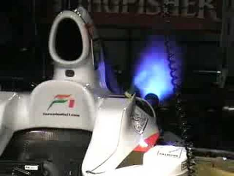 Engine start Force India F1