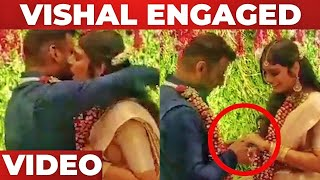 VIDEO : Vishal Engaged at Hyderbad !