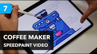 iPad Pro and Procreate Speedpaint | Coffee Maker