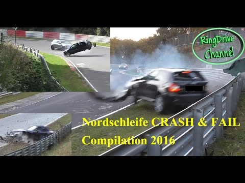 Big CRASH and FAIL compilation 2016 on Nürburgring Nordschleife by RingDrive Channel