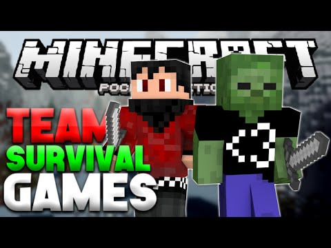 YOUTUBER TEAM!!! - Team Survival Games for MCPE LBSG - Minecraft PE (Pocket Edition)