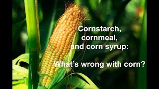 Cornstarch, cornmeal, corn syrup: What's the problem with corn?