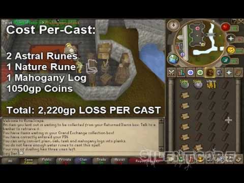 RuneScape - Magic Guide 1-99 (Plank Make & Profit from High Alching)