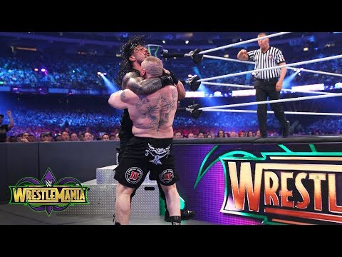 Brock Lesnar brutalizes Roman Reigns in a shocking display of force: WrestleMania 34 (WWE Network) thumbnail