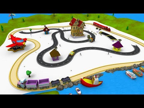 Train - Car Cartoon - Choo Choo Train - Toy Factory - Trains for Children - Trains