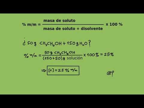 Soluciones químicas I - Porcentaje de masa de soluto en masa de solución (% m/m)