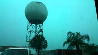 Brownsville NWS WFO Radar struck by lightening!