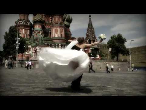 """Свадебный клип """"Свадебная прогулка на Красной площади"""""""