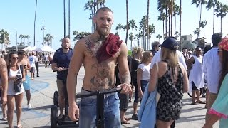 Conor McGregor Takes A Segway Along Venice Beach