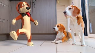 Cute Dog IN REAL LIFE Animation : CGI Animated Louie The Beagle