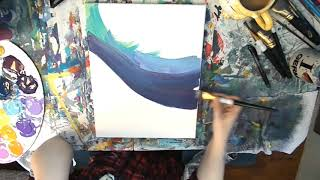 When I'm Gray | Johnny Cash | Synesthesia Painting
