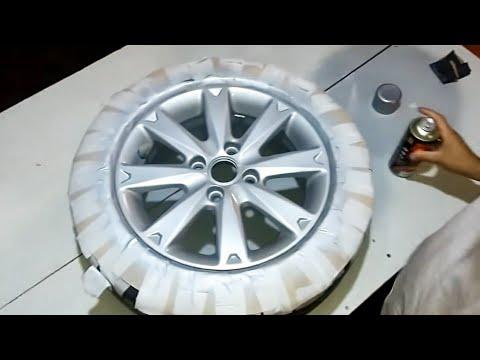 Pintura roda alumínio com spray- Passo a Passo