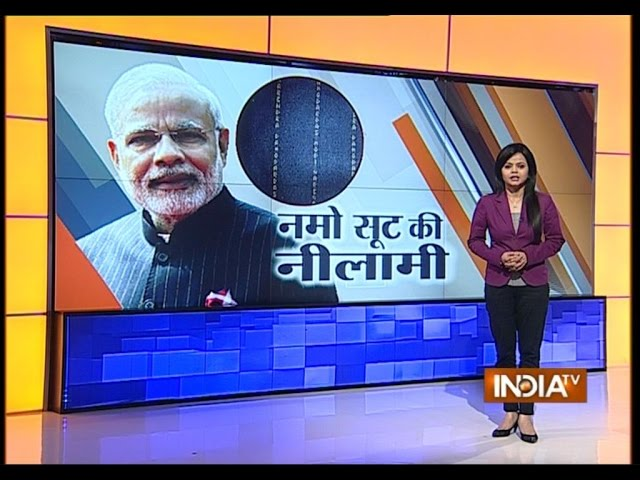 Rs 1.21 cr bid for PM Narendra Modi's pinstripe monogrammed bandhgala suit