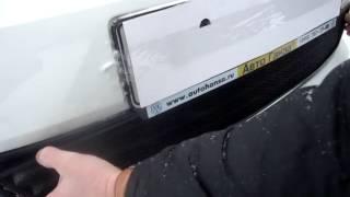 Видео: Защитная сетка радиатора Volkswagen Polo, седан 2010 black
