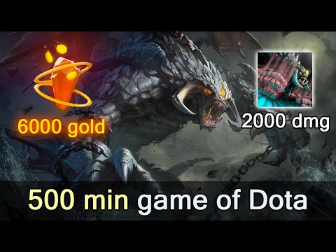 500 minutes game of Dota 2 — what it looks like