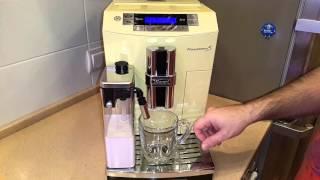 Кофемашина DeLonghi PrimaDonna S ECAM 26.455 YEB - приготовление кофе Латте