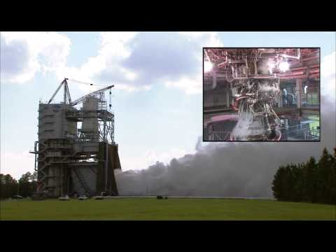 J-2X Engine No. 10002 Tests at Stennis Space Center