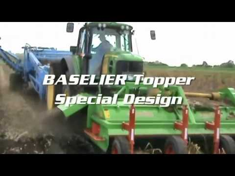 Standen T3, a tractor trailed 3-row potato harvester features programmable Touch Screen and joystick controls, OMEGA soft fluted roller separation, Ebonite o...