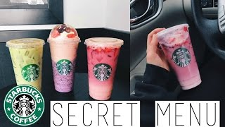 STARBUCKS SECRET MENU | Pink and Green Drink + UNICORN Frappuccino?