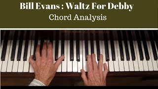 "Bill Evans ""Chords Explained"",  Waltz for Debby, Piano Tutorial"