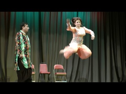 Nida Choudhry's Dance In Jamshed Riaz's Hello Darling Comedy Show video