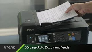 See the amazing features of Epson's WorkForce WF-2760 All-in-One Printer